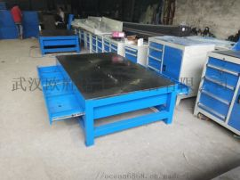 武汉欧胜诺铸铁工作台 钳工工作台