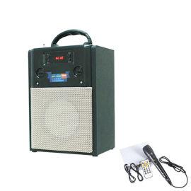 布艺音箱插卡蓝牙音箱手机音响无线低音炮时钟显示屏