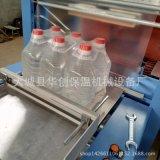 全自动矿泉水膜包机 华创全自动热收缩包装机 瓶装水饮料瓶打包机