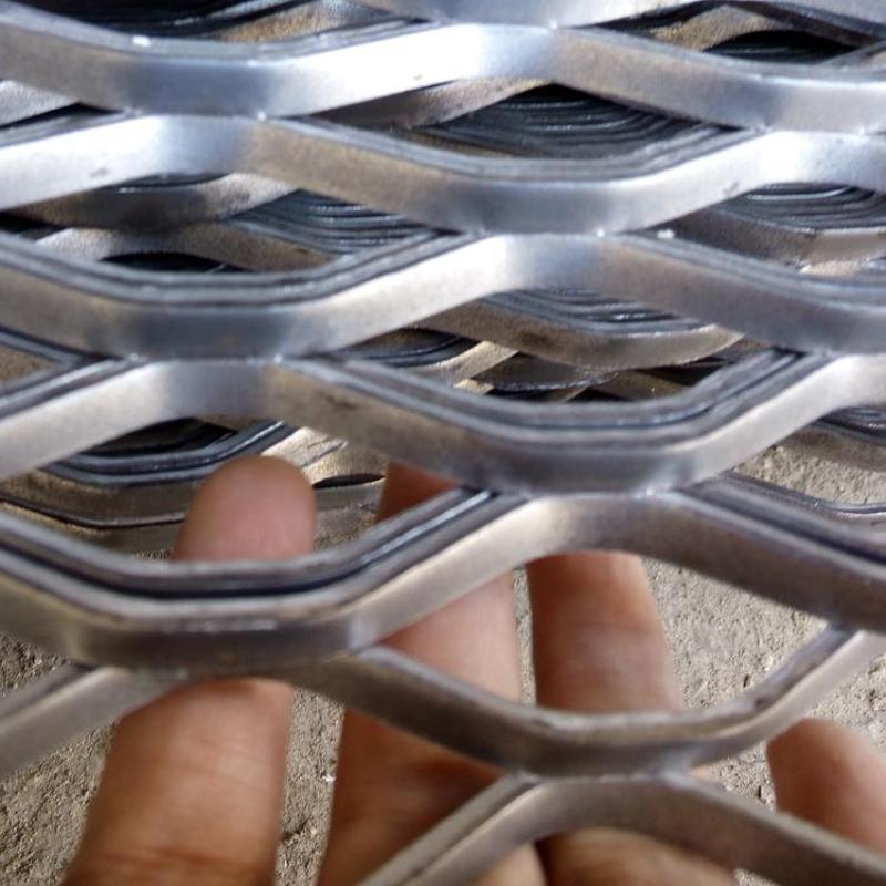 金属冲压钢板网 重型钢板网片 防滑冲压菱形钢板网