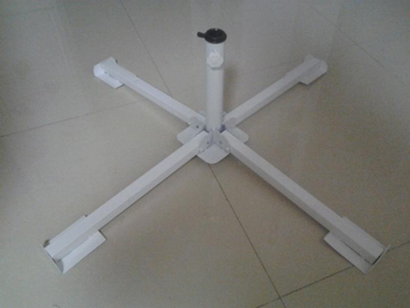 户外伞底座 十字架底座 可折叠便于携带的十字架铁座太阳伞底座