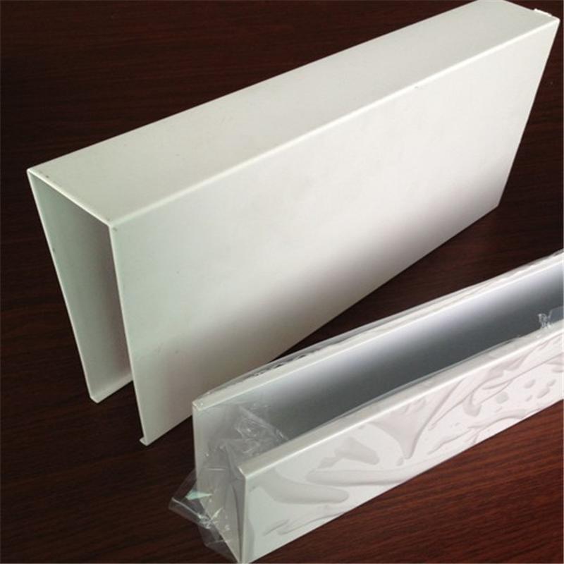 白色鋁方通,0.8mm厚白色方通天花