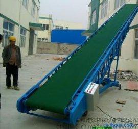 肥料厂用手动升降移动输送机 装车用圆管支架输送机
