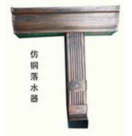 青岛黄岛别墅用蒂美k型仿古铜色落水系统,复古典雅,安装规范