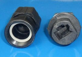 MTS-M22单头带线网线防水接头,户外AP防水连接器,LED显示器防水插头