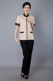 上海红万定制男女保洁服短袖 物业服装 工装 工作服