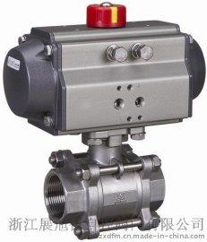 供应气动3片式球阀、气动螺纹球阀、Q611F气动球阀