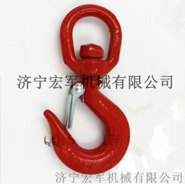1T红塑合金钢美式旋转钩322C、安全起重货钩