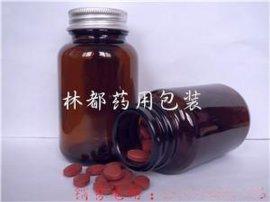 泊头林都现货供应100ml棕色广口药用玻璃瓶