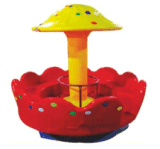 快樂時光玩具廠直供河北幼兒園戶外蘑菇轉椅
