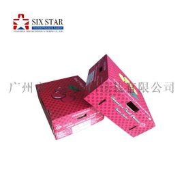 厂家定做通用瓦楞包装盒翻盖式折叠瓦楞包装盒坑纸盒