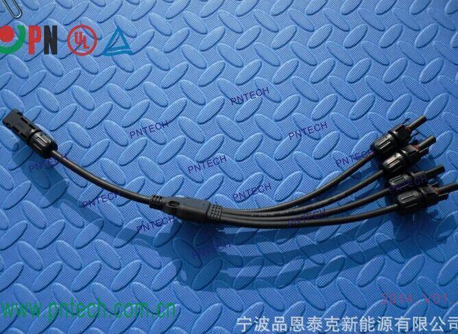 TUV认证  太阳能光伏连接器/MC4/一出四预分支光伏连接器