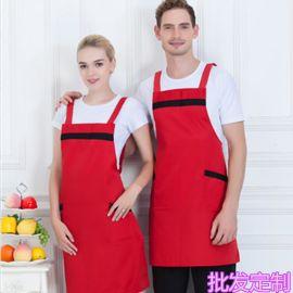 广告围裙背带纯色围裙咖啡厅寿司甜品店服务员工作服围裙批发定制