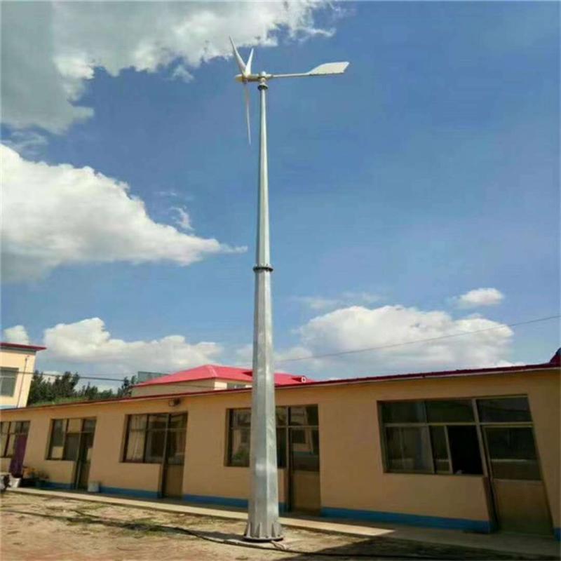 厂家直销内蒙古低风速持久耐用5000W发电机环保节能