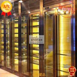 厂家生产不锈钢酒柜 不锈钢酒架定制 恒温酒柜 黑钛不锈钢酒柜