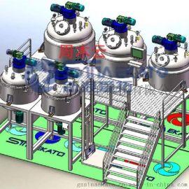 供应1500L真空均质乳化机 高剪切乳化设备 采用德国技术 30年品质