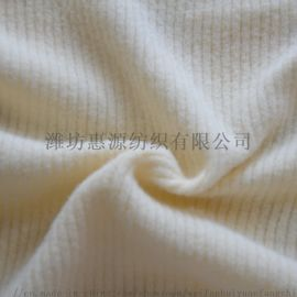 潍坊 32s有机棉罗纹面料 弹力针织外套服装面料