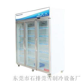 莞鬆三門超市飲料保鮮冷藏展示櫃商用冷櫃