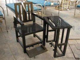 [鑫盾安防]不锈钢标准型审讯椅 树脂白板钥匙型审讯桌椅XD4