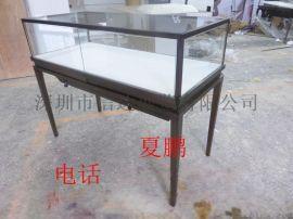 不锈钢珠宝首饰产品展览陈列柜台透明玻璃展示柜