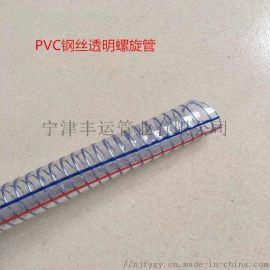 PVC透明钢丝螺旋管 排污软管