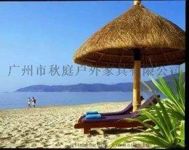 户外滨海区茅草伞,户外**茅草伞, 户外沙滩茅草伞