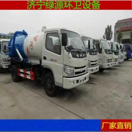 小型福田吸粪车厂家内蒙吉林5吨真空吸污车市场价格
