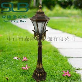 雕花草坪灯铝材花臂欧式宫庭风草坪灯特色花园路灯LED小路灯市电220V