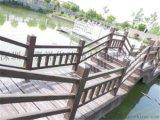 海南海口仿木护栏厂家,仿树皮护栏,河道护栏