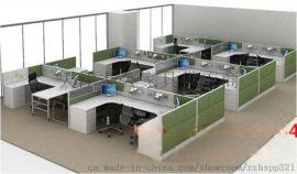员工位 双人职员屏风钢制办公桌 办公家具组合工位