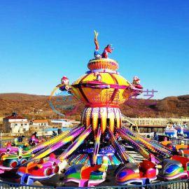 2018新型游乐设备,金博游艺新型游乐设备32人自控飞机