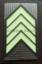 夜光地铁地面地埋疏散标识 杭州地铁不锈钢箭头地标