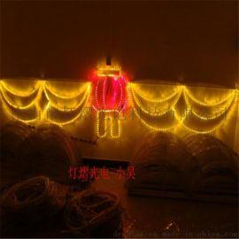 led跨街燈 中國結過街燈  燈光節造型燈