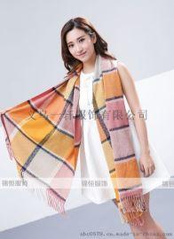 专业生产羊绒羊毛晴棉真丝围巾丝巾方巾披肩办公职场