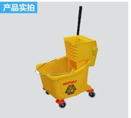 36升20大号塑料榨水车清洗车拖把桶单筒清洁车