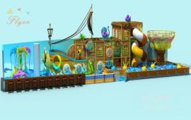 廠家直銷個性創意淘氣堡兒童樂園定制遊樂設備飛翔家