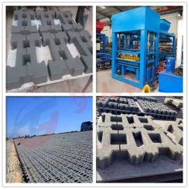 多功能液压免烧5-15护坡砖机 工字植草砖机设备