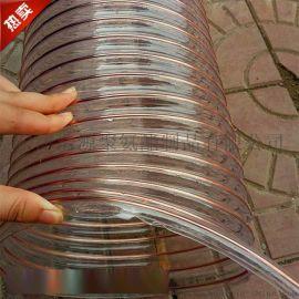 聚氨酯螺旋钢丝镀铜PU管A木工排尘耐磨钢丝伸缩软管