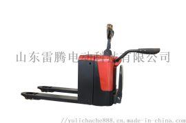 供应站驾式电动托盘带踏板搬运车 仓储物流小叉车