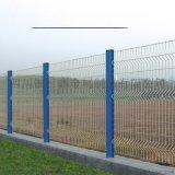 四川小區圍牆鐵絲網桃形柱護欄網車間隔離網