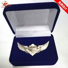 复古浮雕翅膀徽章航空飞行员胸章会销礼品定制