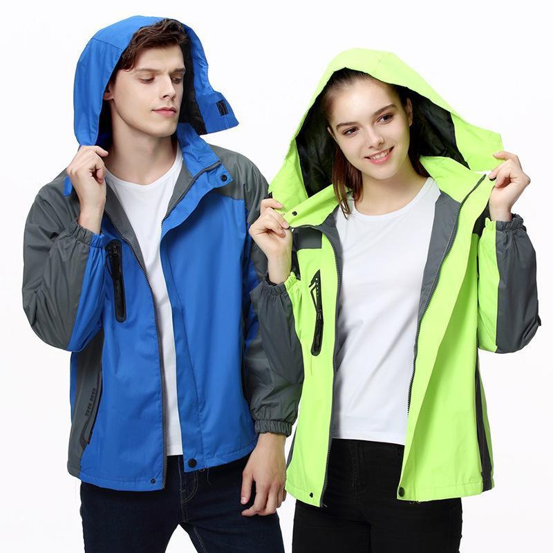冲锋衣定制工装冬季防风透气加绒外套工作服印字logo防水风衣定做