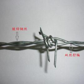 沃达  围墙防攀爬钢丝网  带刺刺网 镀锌刺铁丝钢丝网围栏