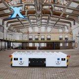 全電動托盤搬運車電動運輸平板車橡膠檯面V型架無軌大噸位轉運車