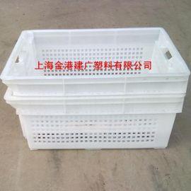 厂家直销 525*398*160 塑料错位筐 塑料果蔬筐  塑料周转筐
