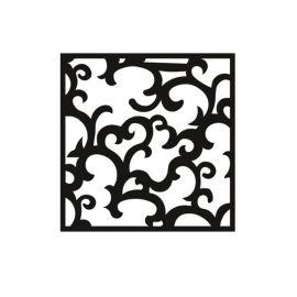 木纹铝窗花厂家直销铝窗花规格装饰材料定制