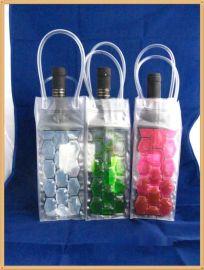 專業定做 pvc紅酒冰袋,紅酒水袋,紅酒袋