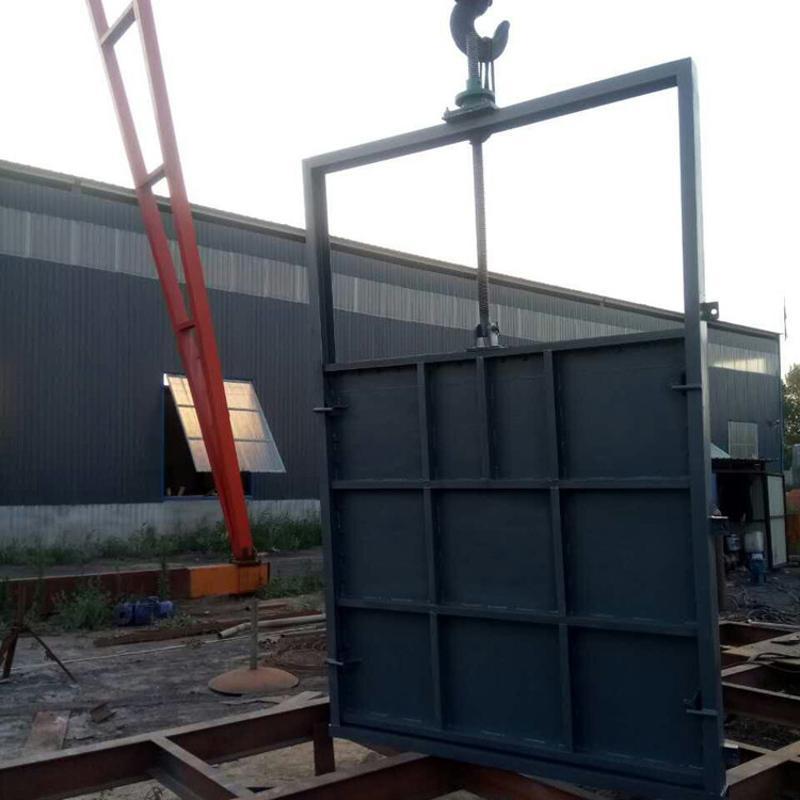 水渠闸门 手动插板闸门 钢制机闸一体门