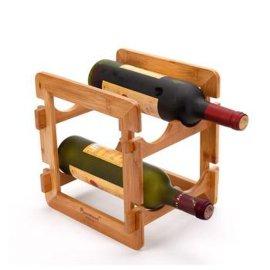 柏运达Bamwood拆装红酒架(四瓶装)