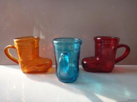 SL-02# 200ML创意酒杯 玻璃鞋 玻璃靴 饮料杯 彩色皮鞋 玻璃 定制酒杯 啤酒靴